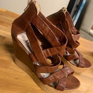 Browns wedge sandals 40